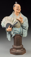 Asian:Other, A Continental Polychromed Pottery Figure of a Japanese Actor.16-1/2 inches high (41.9 cm). ...