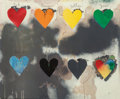 Fine Art - Work on Paper:Print, Jim Dine (American, b. 1935). Eight Hearts, 1970.Screenprint in colors. 24 x 29 inches (61.0 x 73.7 cm). From anunknow...