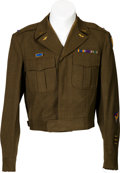 Militaria:Uniforms, British Made Ike Jacket, Flight Officer, 8th Air Force, With Pathfinder Insignia....