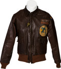 Militaria:Uniforms, WWII Type A-2 Leather Flight Jacket Identified to Lt. Robert Newton Dippy, 314th Bomb Squadron....