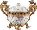 Asian:Chinese, A Gilt Bronze-Mounted Chinese Export Porcelain Potpourri in theLouis XVI Taste. 12-1/2 h x 17 w x 11 d inches (31.8 x 43.2 ...
