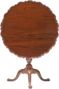 Furniture , A Chippendale-Style Mahogany Tilt-Top Tea Table. 30 inches high x 33-1/2 inches diameter (76.2 x 85.1 cm). ...