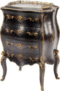 Furniture , An Alphonse Giroux & Cie Gilt-Bronze Mounted, Ebony Parquetry and Brass Inlaid Bombe Commode, Paris, France, second quar...
