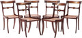 Furniture , A Set of Six English Regency Brass Inlaid Mahogany Dining Chairs. 31-1/2 h x 17-1/2 w x 16 d inches (80.0 x 44.5 x 40.6 cm)... (Total: 6 Items)
