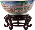 Ceramics & Porcelain, A Chinese Export Porcelain Bowl on Stand. 4-1/2 inches high x 11 inches diameter (11.4 x 27.9 cm) (bowl). ... (Total: 2 Items)