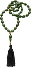 Estate Jewelry:Necklaces, Nephrite Jade, Gold Necklace, Tiffany & Co.. ...