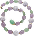 Estate Jewelry:Necklaces, Jadeite Jade, Amethyst, Beryl, Gold Necklace. ...