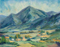 Paintings, Lucile Leggett (American, 1896-1966). Near El Paso. Oil on canvasboard. 16 x 20 inches (40.6 x 50.8 cm). Signed lower le...