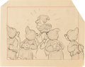 Animation Art:Production Drawing, Snow White and the Seven Dwarfs Storyboard/Layout DrawingsGroup of 6 (Walt Disney, 1937).... (Total: 6 Items)