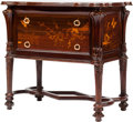 Furniture : French, A School of Nancy Art Nouveau Inlaid Mahogany Commode in the Mannerof Galle, 20th century. 35-1/2 h x 38 w x 23 d inches (9...