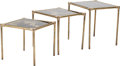 Furniture , Three Gilt Bronze and Eglomisé Nesting Tables. 18 h x 20-1/4 w x 16 d inches (45.7 x 51.4 x 40.6 cm). ... (Total: 3 Items)