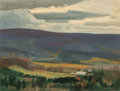 Fine Art - Painting, American:Modern  (1900 1949)  , Alan Caswell Collier (Canadian, 1911-1990). Valley Farm, NearCombermere, Ontario. Oil on board. 12 x 16 inches (30.5 x ...
