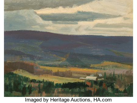 Alan Caswell Collier (Canadian, 1911-1990)Valley Farm, Near Combermere, OntarioOil on board12 x 16 inches (30.5 x ...