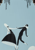 Works on Paper, Erté (Romain de Tirtoff) (Russian/French, 1892-1990). Figures Dancing. Enameled metal. 8-3/4 x 6-3/4 inches (22.2 x 17.1...