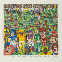 James Rizzi (American, 1950-2011) Are You Ready for Some Football?, 1992 3-D lithographic constructi