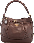 "Luxury Accessories:Bags, Prada Brown Leather Shoulder Bag. Very Good to ExcellentCondition. 13"" Width x 11"" Height x 6"" Depth. ..."