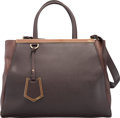 "Luxury Accessories:Bags, Fendi Brown Leather Medium 2Jours Bag. Very Good Condition. 14""Width x 11"" Height x 5"" Depth. ..."