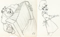 Animation Art:Production Drawing, Lady and the Tramp Tony and Joe Animation Drawing Group of 2(Walt Disney, 1955).... (Total: 2 Original Art)