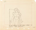 Animation Art:Production Drawing, Snow White and the Seven Dwarfs Snow White Layout DrawingGroup (Walt Disney, 1937).... (Total: 4 Items)