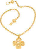 "Luxury Accessories:Accessories, Chanel Gold Clover Necklace. Excellent Condition. 2""Width x 23"" Length. ..."