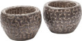Decorative Arts, Continental, A Pair of Celtic-Style Carved Stone Planters. 14 inches high x17-1/2 inches diameter (35.6 x 44.5 cm). ... (Total: 2 Items)