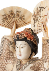 Four Japanese Carved Bone Geisha Figures 20th Century 18 1 2 H X Lot 61378 Heritage Auctions
