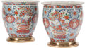 Asian:Japanese, A Pair of Japanese Imari Porcelain Jardinières, 20th century. 13inches high x 15 inches diameter (33.0 x 38.1 cm) (jardiniè...