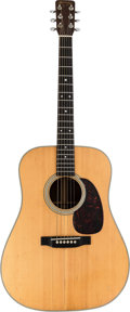 Music Memorabilia:Instruments , Bob Dylan Owned and Stage-Played 1963 Martin D-28 Acoustic Guitar,Serial #196405 Used at George Harrison's Concert for Bangla...