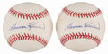 Autographs:Baseballs, Harmon Killebrew Single Signed Baseballs Lot of 2. ...