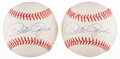 Autographs:Baseballs, Pete Rose Single Signed Baseballs Lot of 2. ...