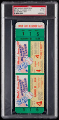 Baseball Collectibles:Tickets, 1957 World Series Game 4 PSA EX-MT 6 Full Ticket - Braves vs.Yankees. ...