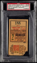 Baseball Collectibles:Tickets, 1922 World Series Game 2 PSA Authentic Ticket Stub - Giants vs.Yankees. ...