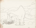 Animation Art:Production Drawing, Gertie the Dinosaur Animation Drawing (Winsor McCay, 1914)....