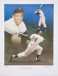 Autographs:Photos, Willie Mays Signed Lithograph. ...