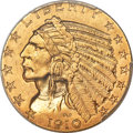 Indian Half Eagles, 1910 $5 MS64+ PCGS....