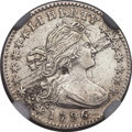 Early Half Dimes, 1796 H10C LIKERTY, V-1, LM-1, R.3 -- Obverse Planchet Flaw -- NGCDetails. AU....