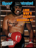 "Boxing Collectibles:Autographs, Muhammad Ali Signed ""Sports Illustrated"" Magazine. ..."