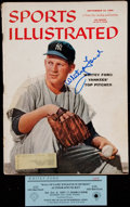 """Baseball Collectibles:Publications, Whitey Ford Signed """"Sports Illustrated"""" Magazine...."""