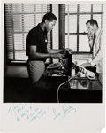 Music Memorabilia:Autographs and Signed Items, Sam Cooke Signed Black and White Photograph Plus A Large Collectionof Black and White Photographs of Him, Circa 1961.... (Total: 2Items)