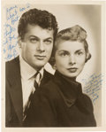 Movie/TV Memorabilia:Autographs and Signed Items, A Tony Curtis and Janet Leigh Signed Black and White Photograph,1954....
