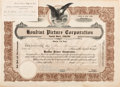 Movie/TV Memorabilia:Autographs and Signed Items, A Harry Houdini Signed 'Houdini Pictures' Stock Certificate,1921....