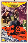 """Movie Posters:War, Paris Underground & Other Lot (Realart, R-1951). One Sheets (2)(27"""" X 41""""). War. Reissued as Guerillas of the Underground...(Total: 2 Items)"""
