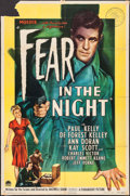 """Movie Posters:Film Noir, Fear in the Night (Paramount, 1947). One Sheet (27"""" X 41""""). FilmNoir.. ..."""