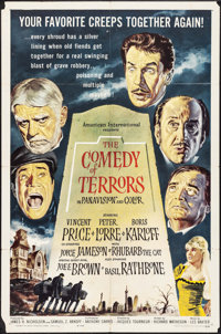 "The Comedy of Terrors (American International, 1964). One Sheet (27"" X 41""). Horror"