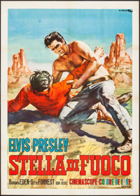 "Flaming Star (20th Century Fox, 1960). Italian 2 - Fogli (39.75"" X 55""). Elvis Presley"