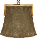 Estate Jewelry:Purses, Art Deco Synthetic Sapphire, Gold Coin Purse. ...