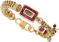 Estate Jewelry:Bracelets, Ruby, Diamond, Cultured Pearl, Gold Bracelet. ...
