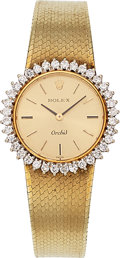 Estate Jewelry:Watches, Rolex Lady's Diamond, Gold Watch. ...