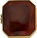 Estate Jewelry:Boxes, Antique Agate, Gold Vinaigrette Box. ...