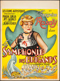 """Movie Posters:Foreign, The Robber Symphony (Films Artistiques, 1937). Pre-War Belgian (24.5"""" X 33.5""""). Foreign.. ..."""